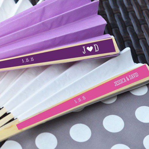 Personalized Paper Hand Fans
