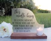 Wedding Remembrance This Candle Burns Memorial Candle Memorial Sign Wedding Memorial Sign In Memory of Wedding Wedding Decor
