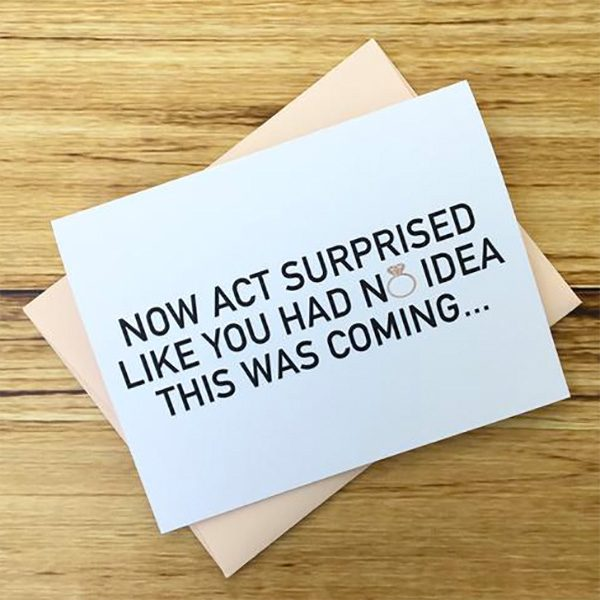 Funny bridesmaid ask card. Now act surprised like you had no idea this was coming.