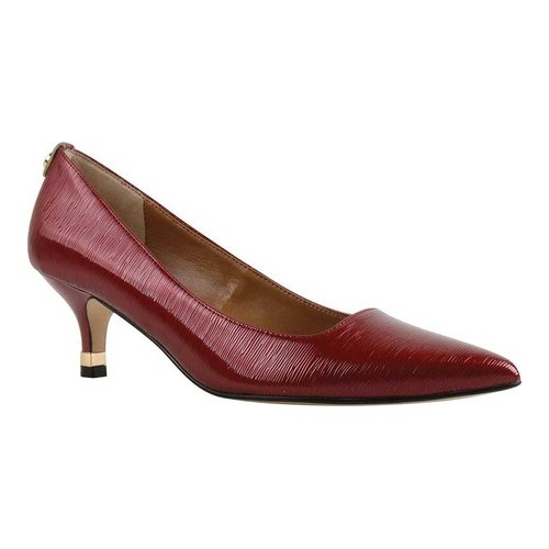 Women's J. Renee Braidy Pump, Size: 6 M, Red Faux Crinkle Patent Leather