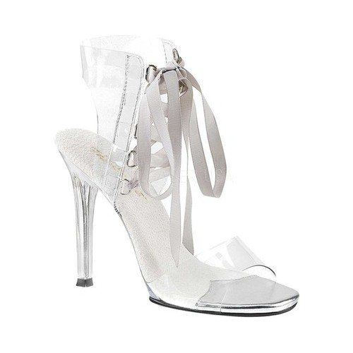 Women's Fabulicious Gala 32 Ankle-Cuff Sandal, Size: 6 M, Clear Lucite/Clear