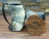 Authentic Buffalo Horn Mug, Personalized Beer Mug, Bar, Groomsmen Gift, Groomsman, Best Man, Game of Thrones, Gifts For Men, Viking Tankard