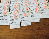 Let Love Grow Custom Seed Wedding Favors Personalized SEALED with SEEDS INCLUDED, Wedding Favors, Elegant Wedding Favors, Florals, Favors