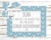 Junior Groomsman Personalized Puzzle Groomsmen Proposal Asking Will You Be My Groomsman Wedding Announcement Ideas P1166