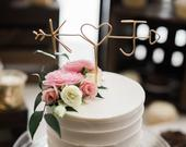 Rustic Wire Initial Wedding Cake Topper, Wire Wedding Cake Topper, Rustic Wedding Cake Topper, Personalized Cake Topper, Wedding Cake Topper