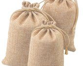 100 150 200 pcs Wedding Hessian Burlap Jute Favor Gift Bags, Drawstring Jewelry Pouch Wedding Party Candy Bags U.S. SELLER Fast Shipping