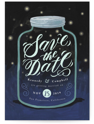 Firefly Mason Jar Save the Dates