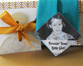 Custom Photo Tie Patch Label Groom Gift Favors Father of the Bride Forever Your Little Girl Anniversary Present Gift Case Love Note