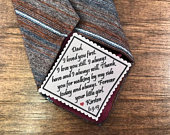 PERSONALIZED TIE PATCH for Father of the Bride Sew On or Iron On, 2.5 Wide Patch, I Loved You First I Love You Still, Gifts for Him, Dad