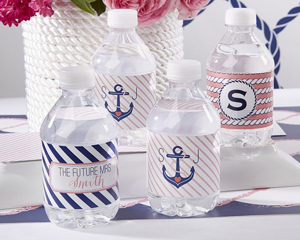 Personalized Nautical Bridal Water Bottle Labels