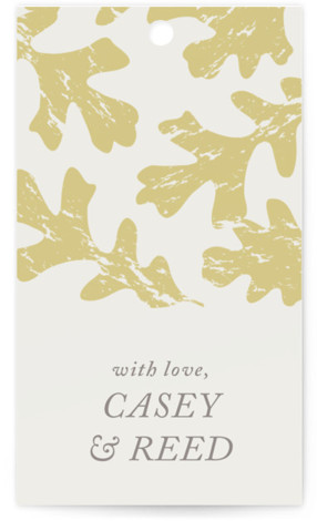 Autumn Leaves Wedding Favor Tags