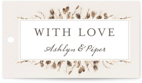 Gone To Seed Wedding Favor Tags
