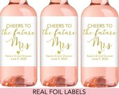 Bridal Shower Mini Wine Labels, Bridal Shower Wine Favor Labels, Bridal Shower Wine Labels, Bridal Shower Wine Favors, Bridal Shower Favor