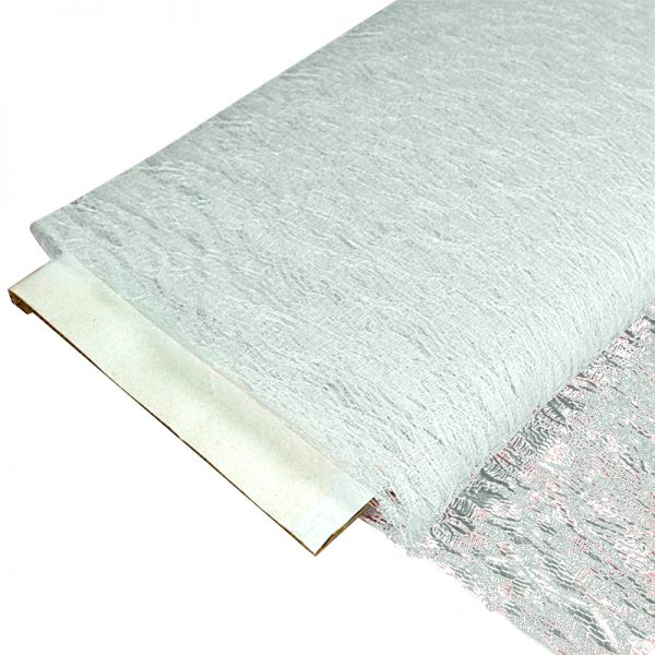 """Sheer White Lace Fabric Bolts - 60"""" X 10 Yards - Cotton - Width: 60"""" by Paper Mart"""