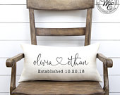 Engagement gift, Wedding gift, gift for bride, Wedding Gifts, Wedding Gifts for Couple, Personalized Pillow, Personalized Wedding Gift
