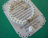 Personalized Flower Girl Gifts, Pearl Flower Girl Bracelet, Personalized Pearl Flower Girl Bracelet, Personalized Childrens Jewelry, Gift