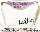 Graduation gift, Personalized makeup bag Canvas cosmetic bag gifts for graduation Zipper pouches make up bag graduation gift for