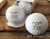 FATHER of the BRIDE, custom golf balls gift for Dad Wedding Brides Father, Father of the Bride gift, personalized golf balls, set of 3