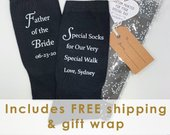 Father of the Bride Socks, Special Socks for a Special Walk Personalized Socks with Wedding Date, Father of the Bride Gift from the Bride