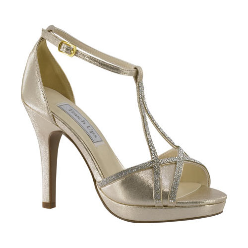 Women's Touch Ups Harlow T-Strap Platform Sandal, Size: 11 M, Champagne Shimmer
