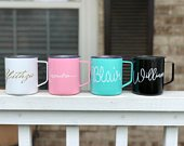 Personalized Stainless 14oz MUG, Personalized Cups, Bridesmaid Gift, Personalized Tumbler, Wedding Favors, Bridesmaid Proposal, Tumbler