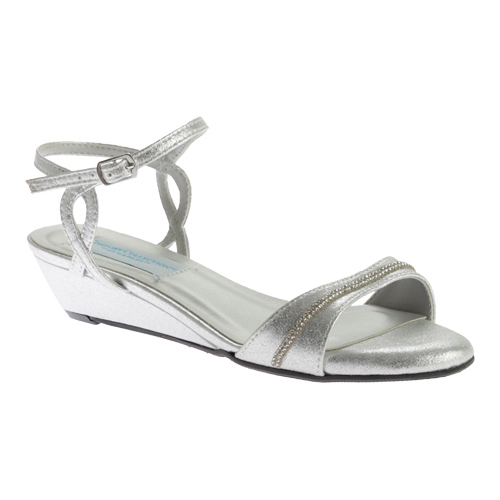 Women's Dyeables Mallory Wedge, Size: 11 M, Silver Shimmer