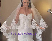 Lace Cathedral Veil, Cathedral lace wedding veil, Cathedral blusher veil, cathedral drop wedding veil, Royal lace Veil, 2 tiers veil V611