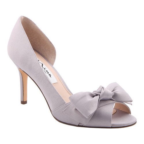 Women's Nina Forbes2 D'Orsay Pump, Size: 9.5 M, Royal Silver Luster Satin