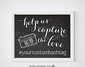 70% OFF THRU 3/2 ONLY Help Us Capture The Love, Capture The Love, Wedding Hashtag Sign, Wedding Sign, Chalkboard Wedding Sign, Social Media