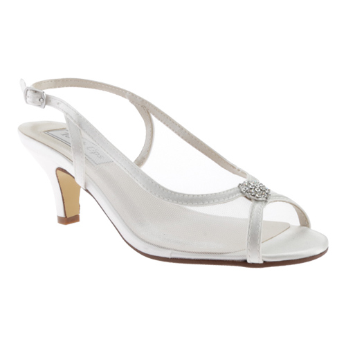 Women's Touch Ups Elite Slingback, Size: 8 M, White Satin
