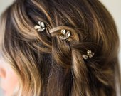 Crystal Hair Pins Bridal Hair Pins Wedding Hair Pins Silver Hair Pins Gold Hair Pins Bridal Bobby Pins Minimal Hair Pins Headpiece 159