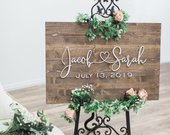 Wedding Welcome Sign, Wedding Sign, Rustic Wood Sign, Wedding Signage, Wedding Name Sign, Wood Wedding Sign, Custom Wedding Sign, Name Sign