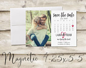 4.25x5.5 inch Calendar Save The Date Magnet, Magnet Save the Date, Photograph Save the Date, Save the Date with Photo, Heart Save the Date