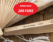 Personalized Rustic Sandalwood Wedding Fans (Pack of 200) Wedding Favors