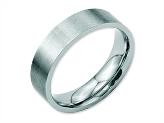 Chisel Stainless Steel Flat 6mm Brushed Weeding Band