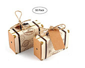 50 Destination Wedding Favor Boxes Traveling Going away party Wedding Graduation Celebration Travel Suitcase Birthday Luggage Candy Box