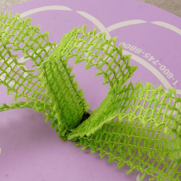 "Mesh Lime Wired Burlap Ribbon - 7/8"" X 25yd - by Paper Mart"