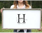 Rustic Wedding Guest Book Alternative Personalized Horizontal Guestbook Wood Wedding Guest Book Wood Wedding Sign Custom Wedding Guestbook
