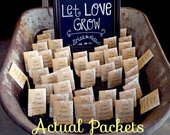 Personalized Seed Packets, Let Love Grow, Custom Seed Packets, Wedding Seed Packets, Seed Packets, Seed Packs, Complete, Includes Seeds 50ct