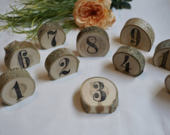 Wedding Decor Table Numbers Table Number Wedding Wood Slice Table Numbers Single Wedding Table Number Wood Slices