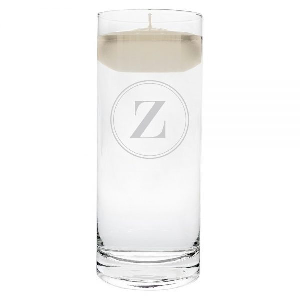 'z' Monogram Floating Wedding Candle