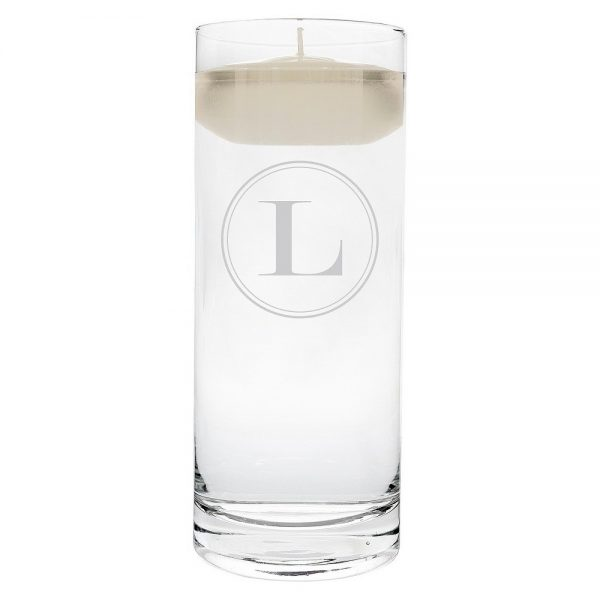 'l' Monogram Floating Wedding Candle