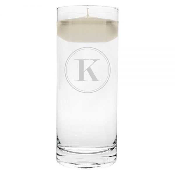 'k' Monogram Floating Wedding Candle