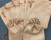 Set of 12 Burlap Bag 3x 4 4x6 5x7 6x9 Wedding Favor Bags, Party Favor Bags, Burlap Gift Bags Rustic Wedding Jute Bag Natural Wedding