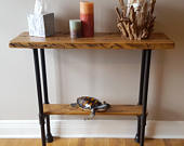 Rustic Entryway Table Entryway Furniture Industrial Decor Rustic Decor Hand Made in USA with Pipe made in USA Great Mothers Day Gift!