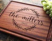 Personalized Cutting Board Engraved Cutting Board, Wedding Gift, Anniversary Gift, Housewarming Gift, Corporate Gift. 413