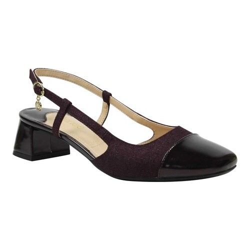 Women's J. Renee Marcela Slingback, Size: 8 M, Wine Twill