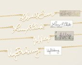 Actual HandwritingNecklace in Personalized Signature Necklace Meaningful Personalized Necklace Bridesmaid Jewelry PN02