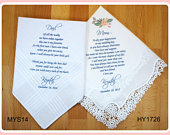 Mother of the Bride Gift Father of the Bride Gift from the Bride, wedding handkerchief from daughter, printed, mother of bride gift POB1