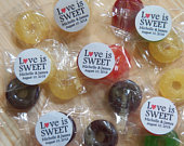 100 Love is Sweet Wedding Favors, Lifesaver Hard Candy Assembled with Stickers, Wedding Decor, Welcome Bag, Guest Mint, Mint to Be